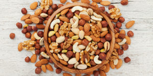 Nuts as breast enhancing foods